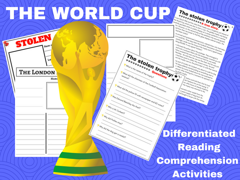 World Cup 2018  KS2 differentiated reading activities