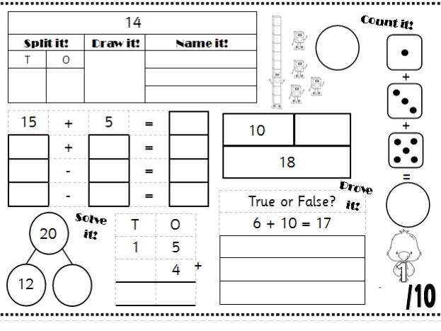Maths Mats Morning Work - Support