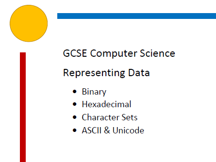 Representing Data - Computer Science Booklet with activities. Binary, Hexadecimal, ASCII, Unicode