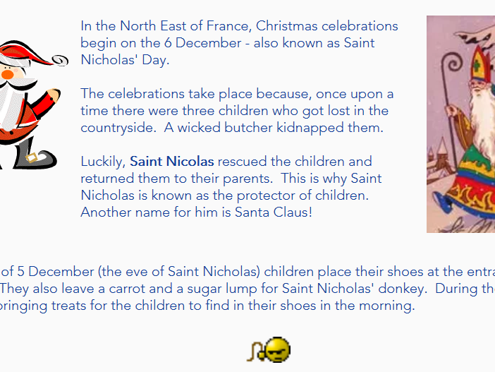 Christmas in France Investigation Sheets