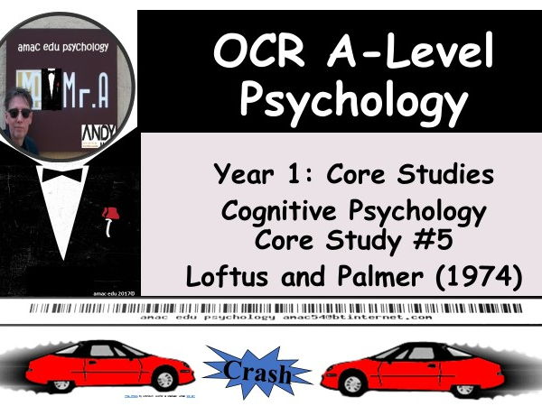 OCR A-Level Psychology: Core Study #5 Loftus and Palmer (1974)