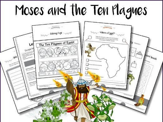 Moses and the Ten Plagues Activity Book and Lesson Plans