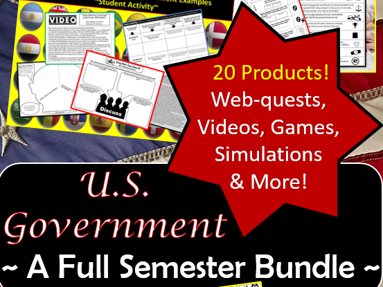 U.S. Government Bundle ~A Full Semester of Activities~