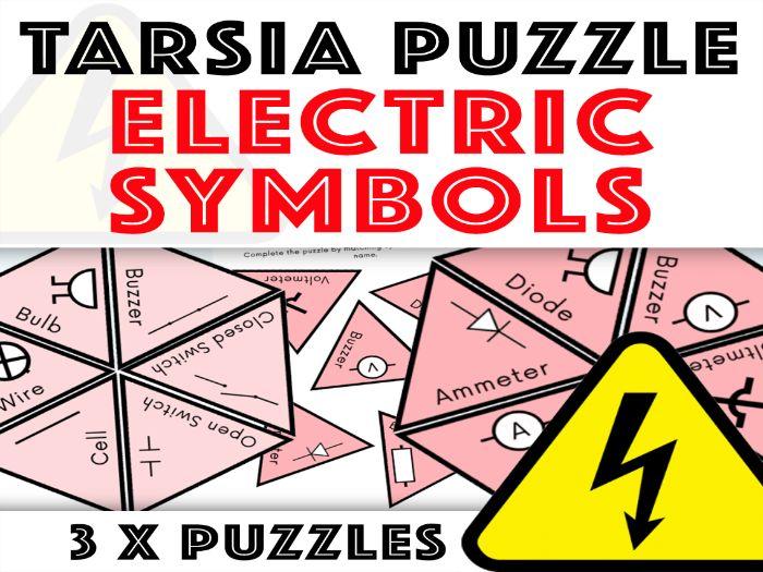 Electricity Tarsia Puzzle: Electric Symbols