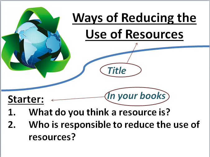 Topic 10- Ways of reducing resources (AQA- Chemistry)- Online version