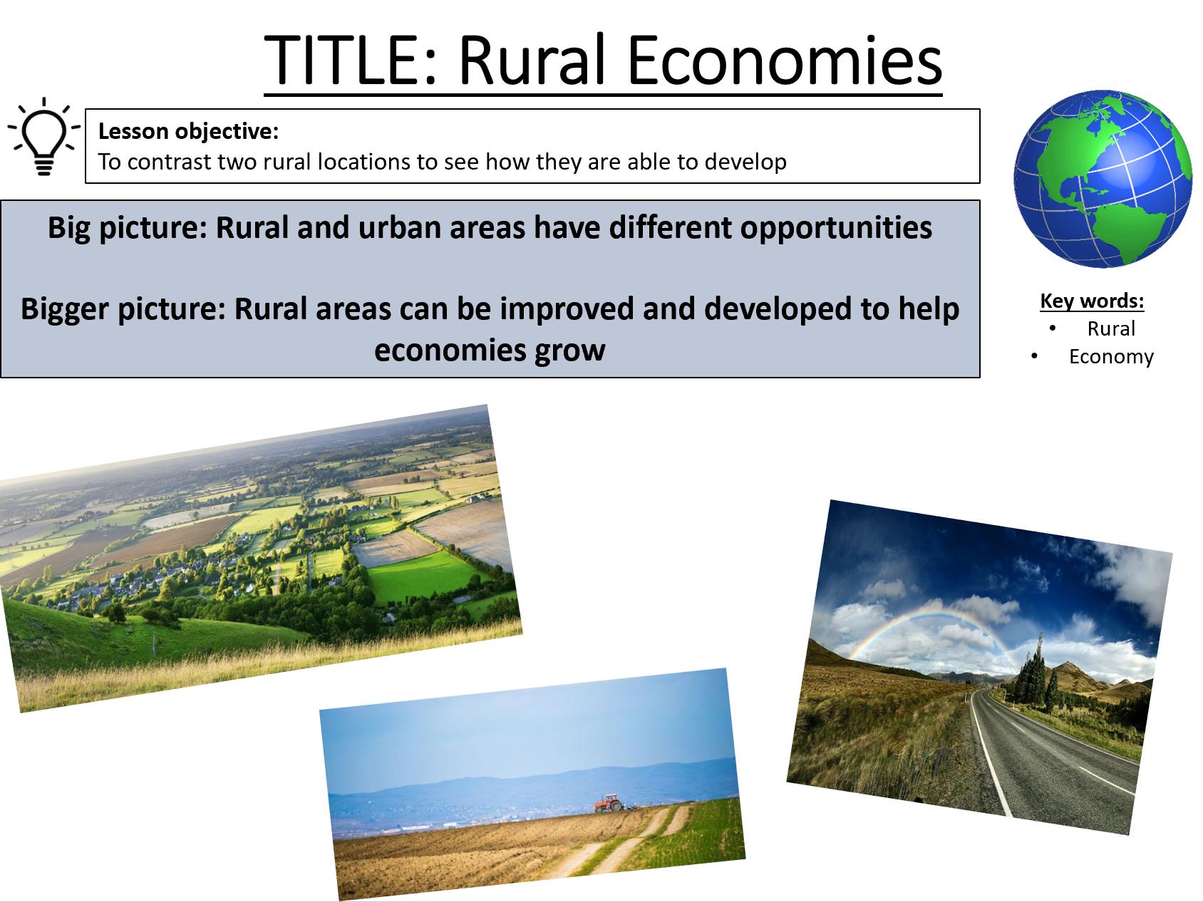 Changing Economic World - AQA GCSE - UK Lessons bundle