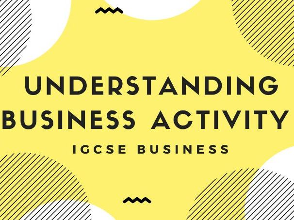 1.1 Understanding Business Activity IGCSE Business