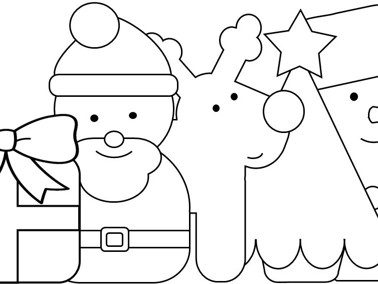 Colour and Cut-Out Christmas Cards