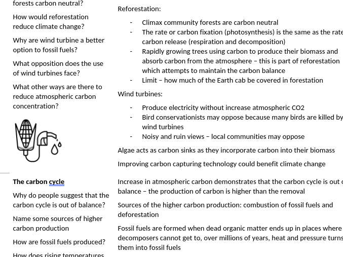 Edexcel A-level Biology General Revision - Photosynthesis, climate change, chi squared etc