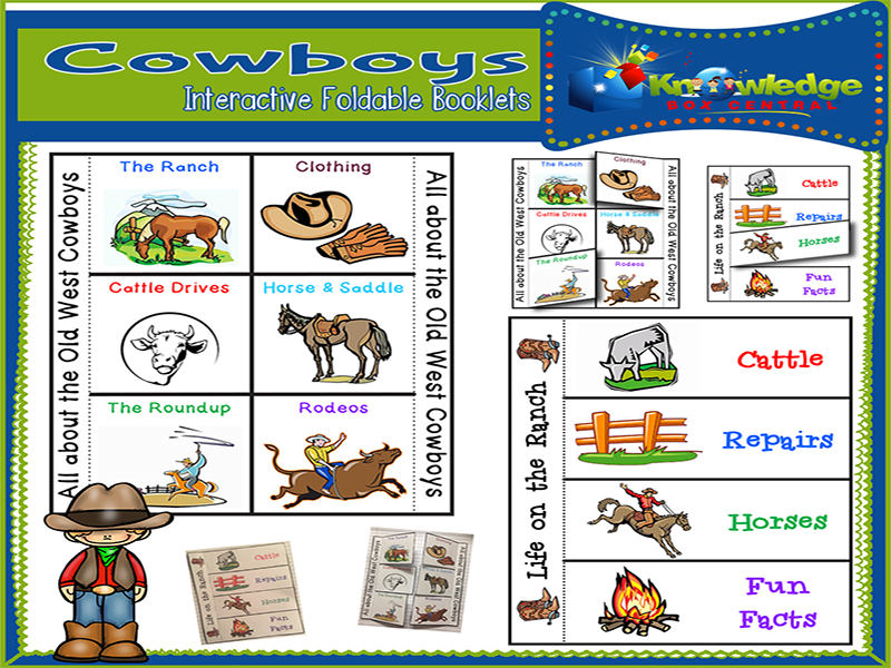 Cowboys Interactive Foldable Booklets