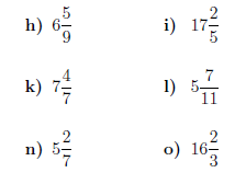 Mixed numbers to improper fractions worksheet (with solutions)