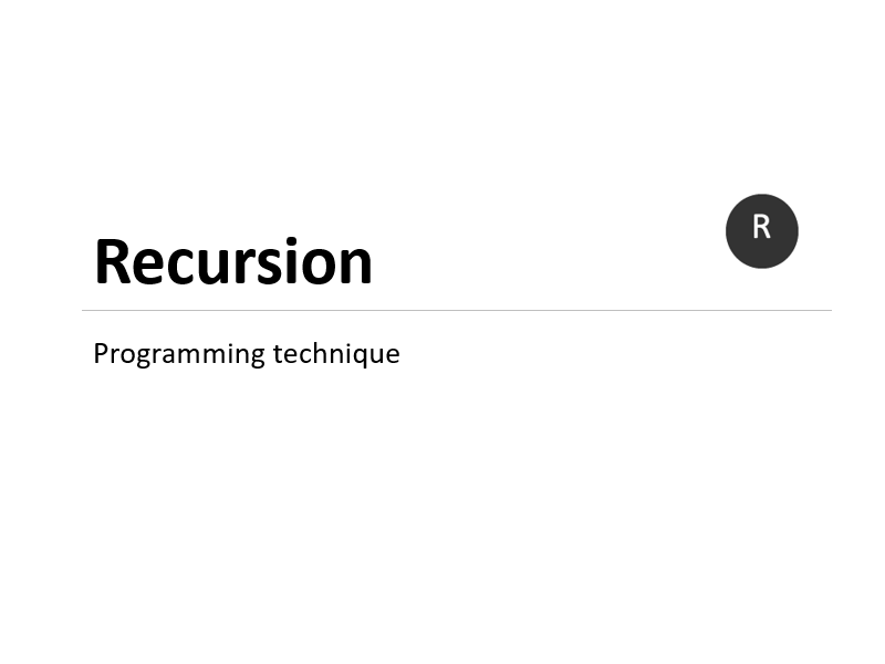 Recursion programming technique