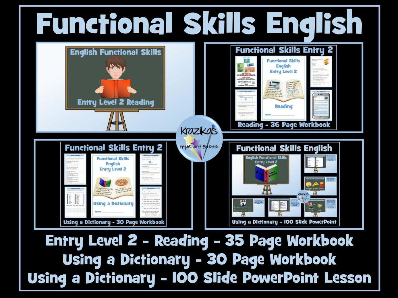 English Functional Skills - Entry Level 2 - Reading Bundle