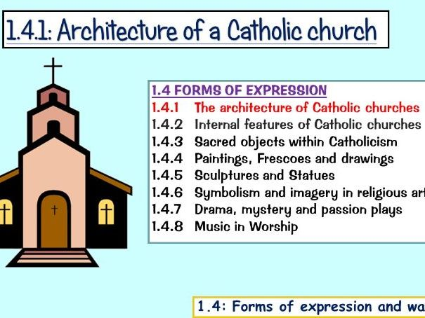 Edexcel Catholic Christianity: 1.4.1 Architecture of a church