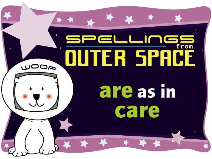 Year 1 Spellings from Outer Space: ARE as in CARE