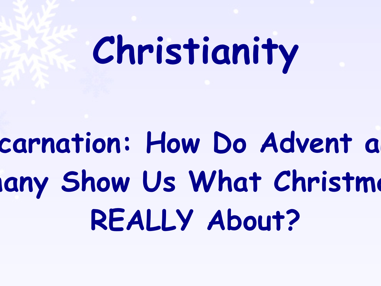 RE Christianity unit on Advent