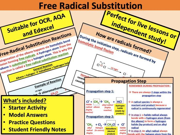 Free Radical Substitution (AS Chemistry)
