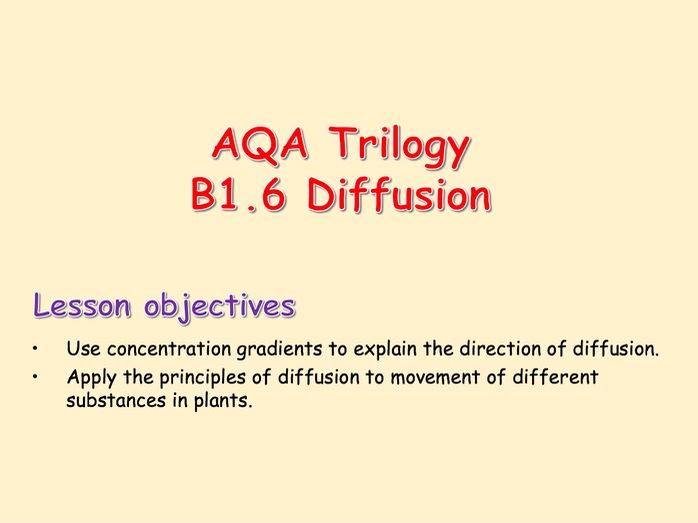 AQA Trilogy B1.6 Diffusion