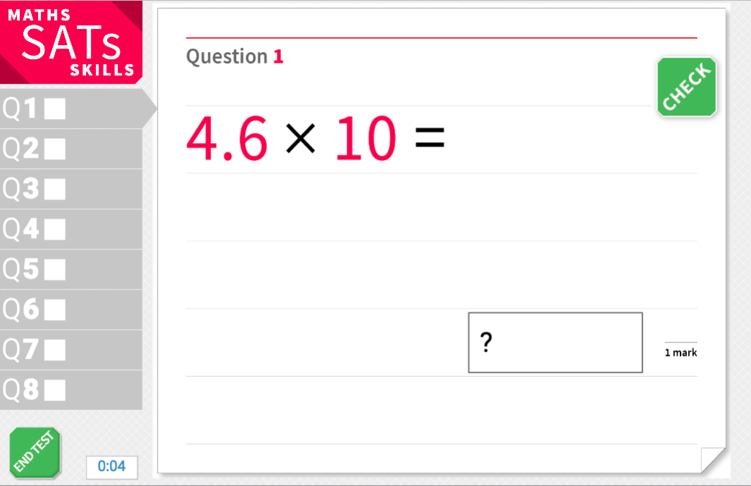 Multiply decimal numbers by 10, 100 or 1,000 - KS2 Maths Sats Arithmetic - Interactive Exercises