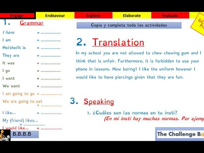 School Rules (Spanish) - Accelerated GCSE Progress Lesson
