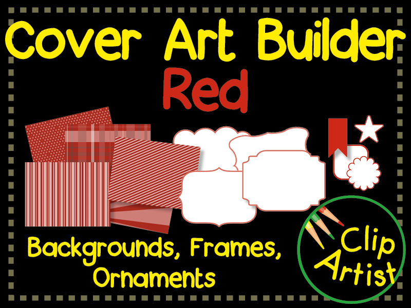 Cover Builder for Authors and Presentations - Red