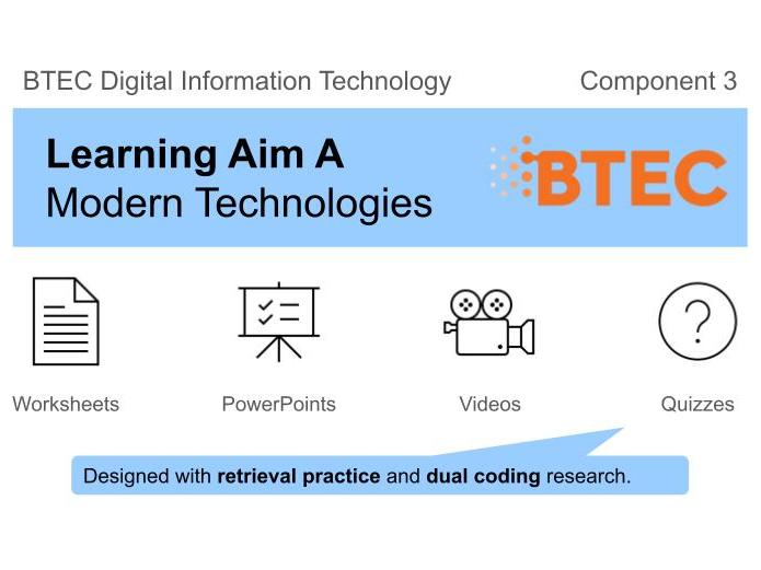 BTEC DIT - Component 3 (Learning Aim A: Modern Technologies)