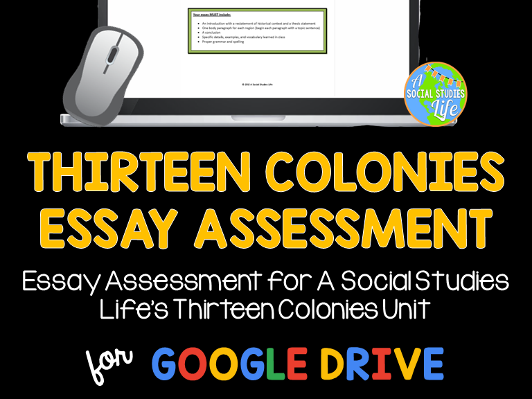 Thirteen Colonies Essay Assessment