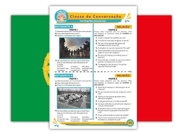 Religião - Portuguese Speaking Activity