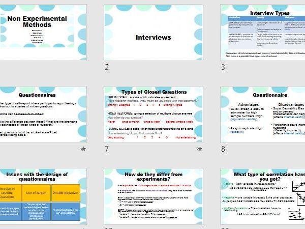 Self Report & Correlations - A2 Recap Revision - AQA Psychology Research Methods
