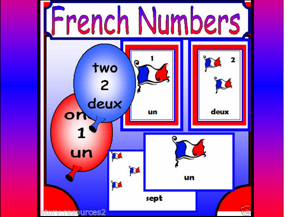 French Teaching Resources Numbers Display Flashcards Banner Posters KS1 KS2