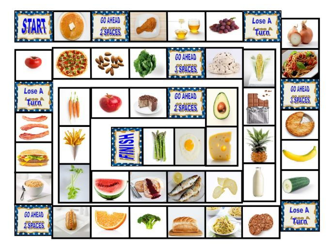 Food Types Board Game By Eslfungames Teaching Resources Tes