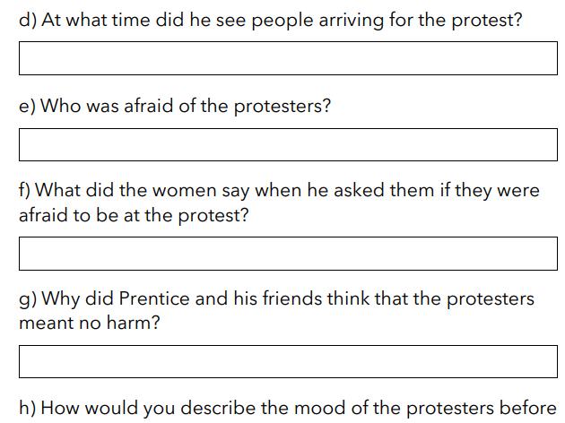 The Peterloo Massacre - Eye-witness / Q&A
