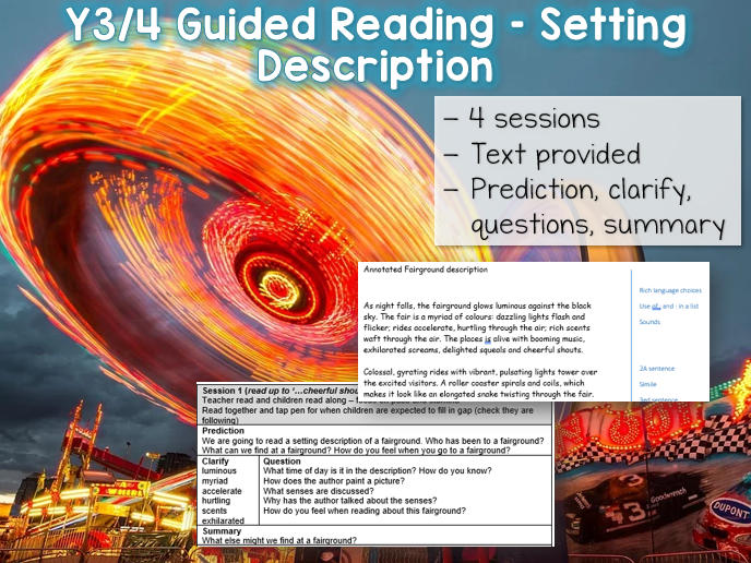 Y3/4 Guided Reading Setting Description - 4 sessions