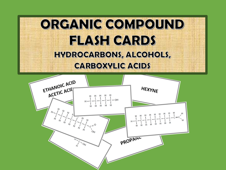 Organic Compound Flash Cards
