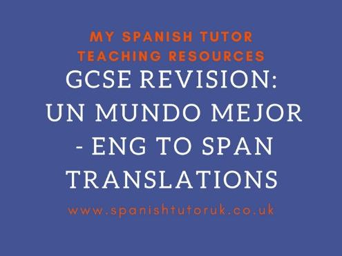 Global & Social Issues Translations English to Spanish