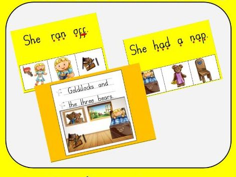 Goldilocks and the Three Bears - Simple sentence to picture match boards