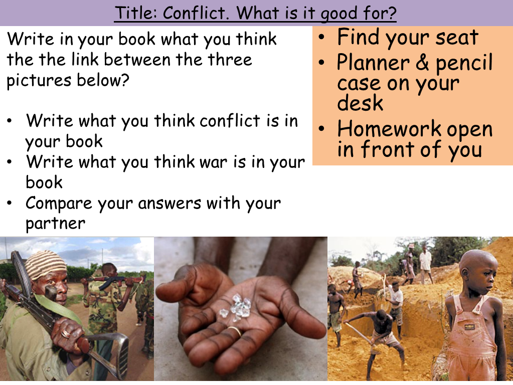 'Conflicts' Scheme of Work