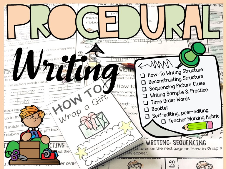 PROCEDURAL WRITING: HOW TO WRITING: HOW TO WRAP A GIFT