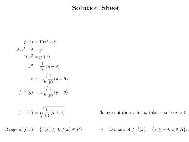 Advanced pure teaching resources Further functions – Composite Functions Worksheet