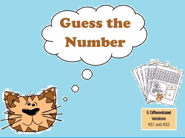 Guess Who Maths Vocabulary Game - Differentiated for KS1 and KS2 - Number and Place Value