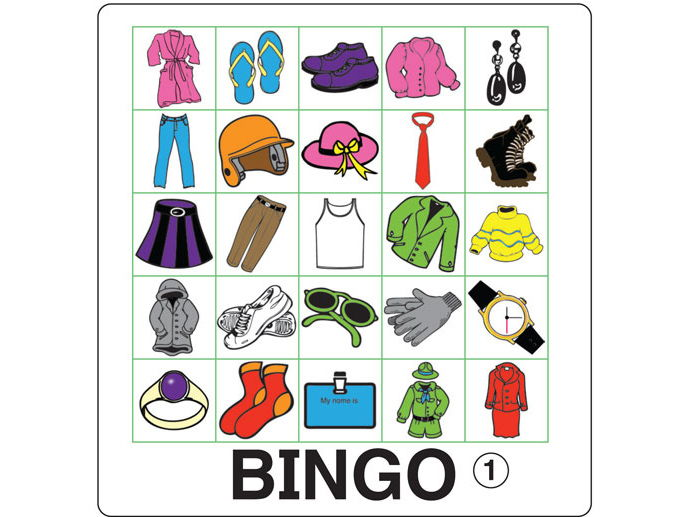 ESL Games - Clothing Bingo