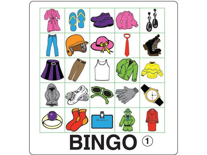 ESL Games - Clothing Bingo
