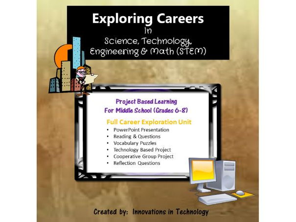Exploring Careers:  STEM Science, Technology, Engineering & Math