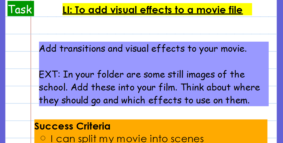 KS2 Computing Planning - Window's Movie Maker - virtual tour making  movie (we are movie presenters)
