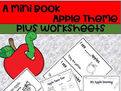 I see an apple! Apple Counting Mini Book
