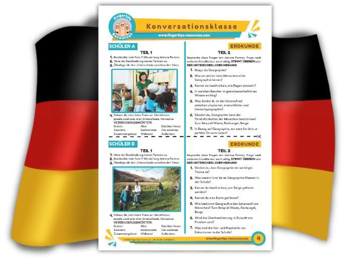 Erdkunde - German Speaking Activity