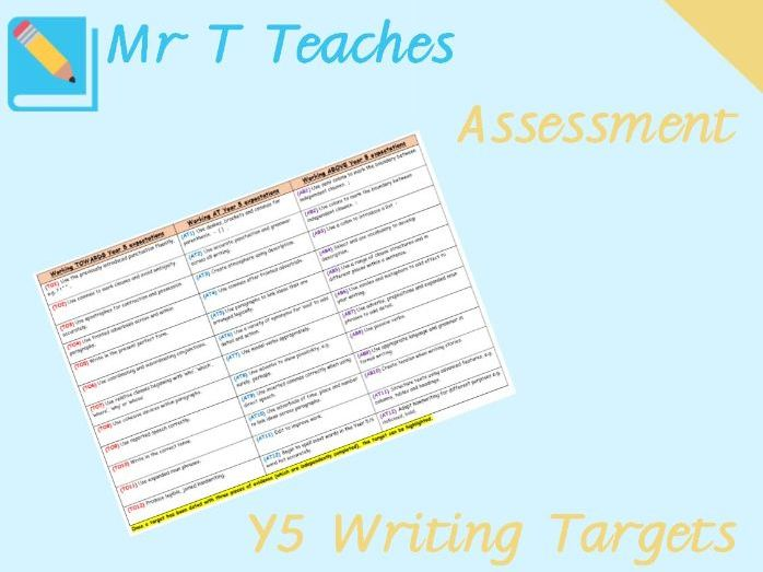 Year 5 Writing Targets Assessment
