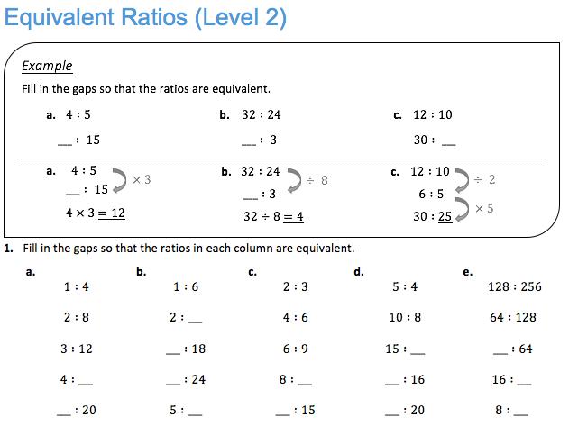 Equivalent Ratios (Level 2)