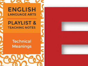 Technical Meanings - Playlist and Teaching Notes