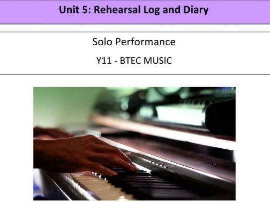 BTEC Music Unit 5 Work Booklet